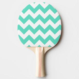 Palette verte en bon état de ping-pong de chevron raquette tennis de table