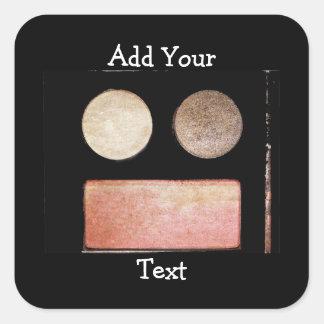 Palette-Visage de maquillage Sticker Carré
