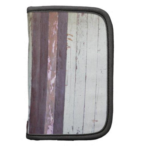 Palissade vintage affligée de bois de construction agendas