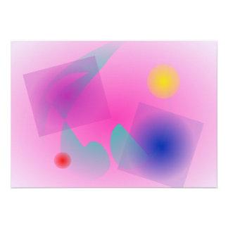 Pâlissez - la composition abstraite simple rose bristols personnalisés