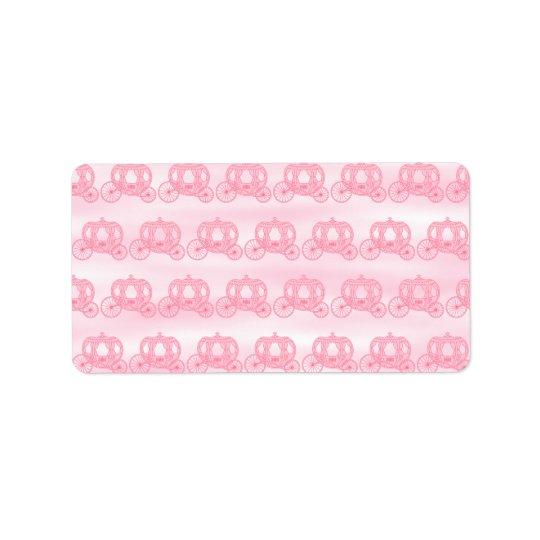 Pâlissez - le motif rose de princesse Carriages Étiquette D'adresse