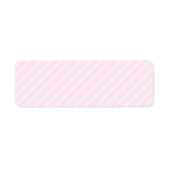 Pâlissez - les rayures diagonales roses étiquette d'adresse retour