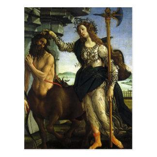 Pallas et le centaure par Sandro Botticelli Carte Postale