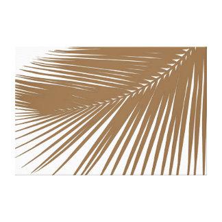 Palmette - taupe sur le blanc toile