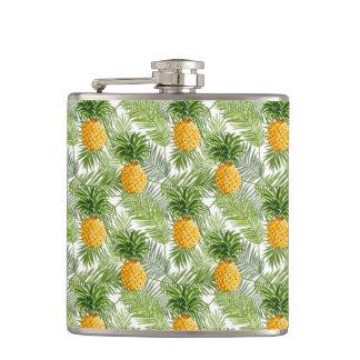 Palmettes et ananas tropicaux flasques