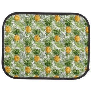 Palmettes et ananas tropicaux tapis de sol