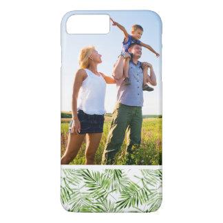 Palmettes faites sur commande de vert de photo coque iPhone 7 plus