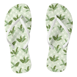 Palmettes tropicales tongs