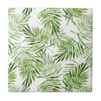 Palmettes vertes petit carreau carré