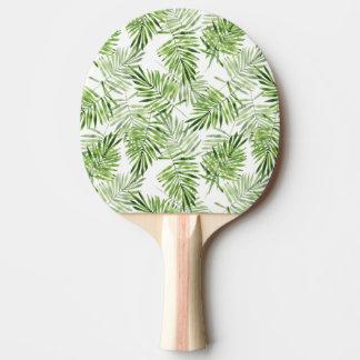 Palmettes vertes raquette de ping pong