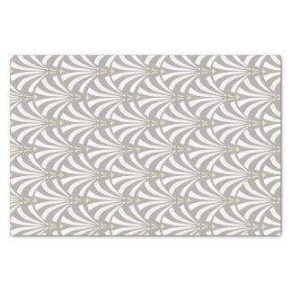 Palmettos vintages de blanc d'art déco de style papier mousseline