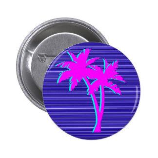 Palmier au néon badges