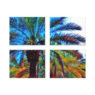 Palmier-dattier vibrant toile
