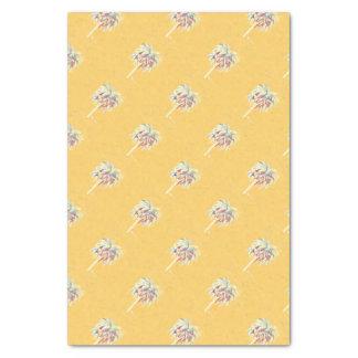 Palmier de jaune de papier de soie de soie