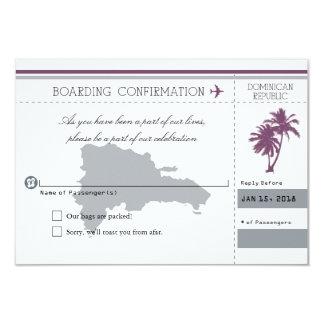 Palmier de la République Dominicaine RSVP Carton D'invitation 8,89 Cm X 12,70 Cm