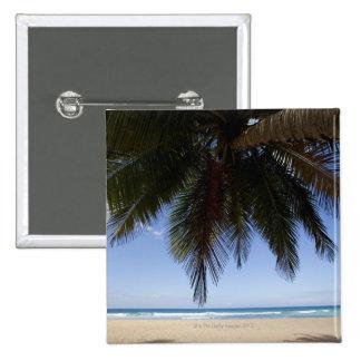 Palmier le long de mer des Caraïbes Badge