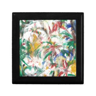 Palmier pour aquarelle floral tropical abstrait boîte à souvenirs