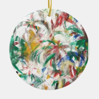 Palmier pour aquarelle floral tropical abstrait ornement rond en céramique