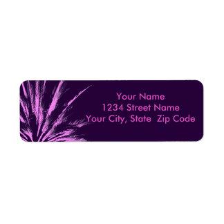 Palmier rose pourpre étiquettes d'adresse retour