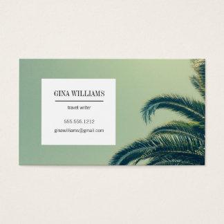 Palmier tropical cartes de visite