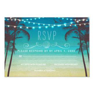 Palmier tropical de carte du mariage de plage RSVP Carton D'invitation 8,89 Cm X 12,70 Cm