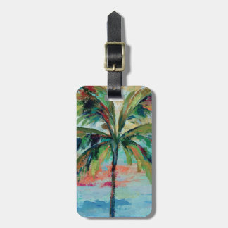 Palmier tropical de | étiquette à bagage