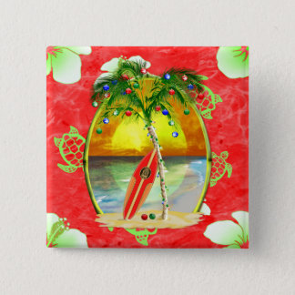 Palmier tropical de Noël Badges
