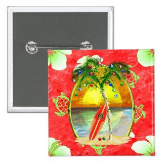 Palmier tropical de Noël Badges