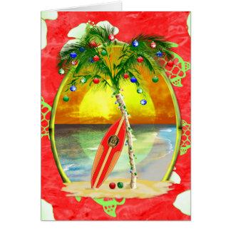 Palmier tropical de Noël Carte De Vœux