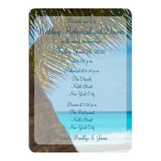 Palmiers aux invitations de répétition de mariage