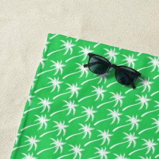 Palmiers blancs - serviette de plage