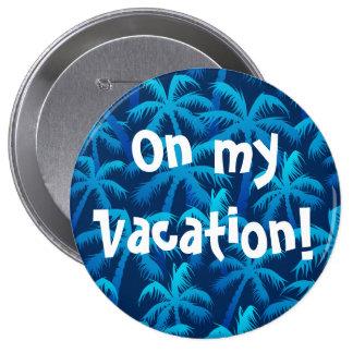 Palmiers bleus tropicaux badge