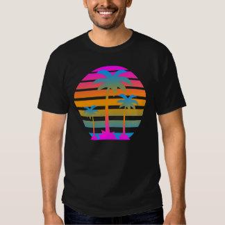 Palmiers de coucher du soleil de tigre de Corey T-shirt