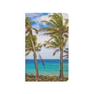 Palmiers de noix de coco (nucifera de Cocos) Carnet De Poche