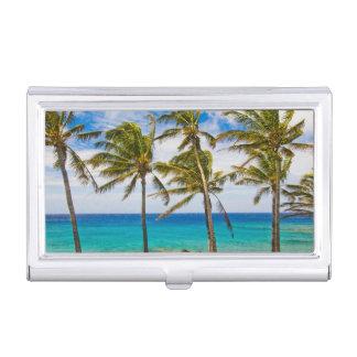 Palmiers de noix de coco (nucifera de Cocos) Étui Pour Cartes De Visite