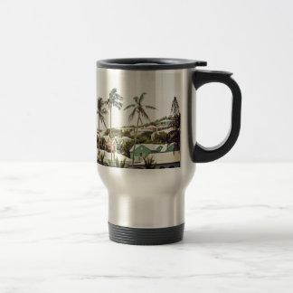 Palmiers en Bermudes Mug De Voyage
