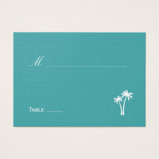 Palmiers épousant la carte d'endroit