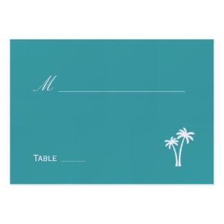 Palmiers épousant la carte d'endroit cartes de visite professionnelles