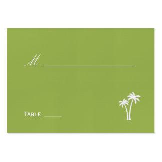 Palmiers épousant la carte d'endroit - chaux cartes de visite personnelles
