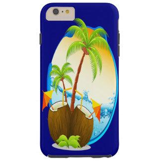 Palmiers et boissons de noix de coco coque iPhone 6 plus tough