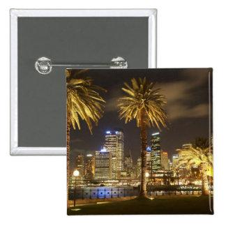 Palmiers et CBD la nuit, Sydney, nouveau sud Badges