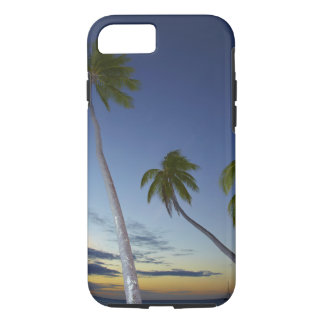Palmiers et coucher du soleil, île-hôtel de coque iPhone 7