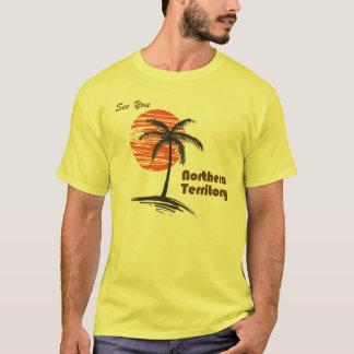 Palmiers et coucher du soleil t-shirt