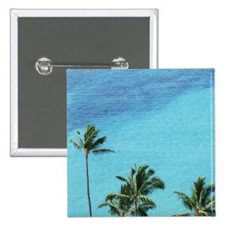 Palmiers et surface de la mer pin's