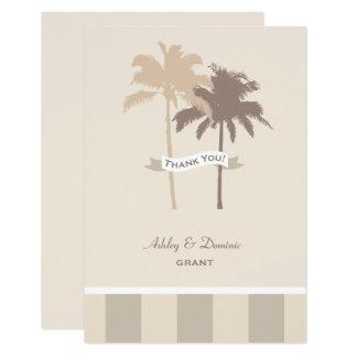 Palmiers plats de la carte de note de Merci de Carton D'invitation 8,89 Cm X 12,70 Cm