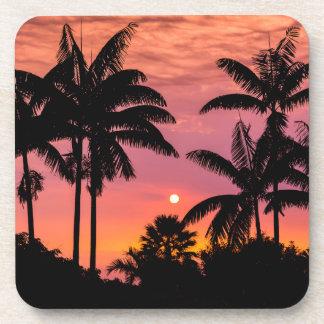 Palmiers silhouettés, Hawaï Sous-bock