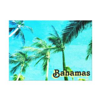Palmiers vintages bleus toiles