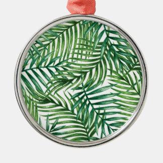 palmpattern02 ornement rond argenté
