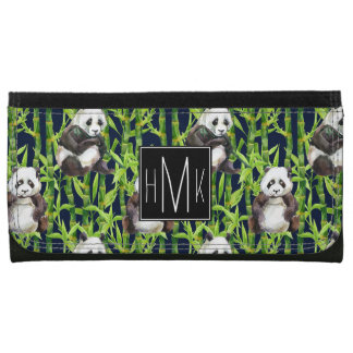 Panda avec le monogramme en bambou du motif |