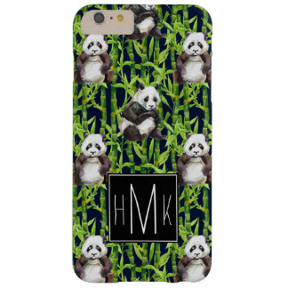 Panda avec le monogramme en bambou du motif | coque barely there iPhone 6 plus